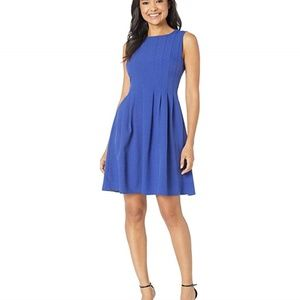 New Anne Klein Crepe Seamed Fit Flare Dress